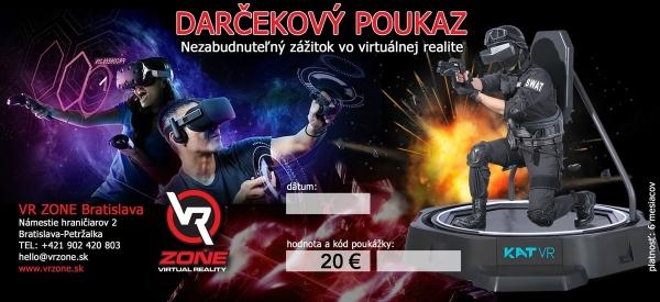 Darčekový poukaz na virtuálnu realitu vo VR zone Bratislava