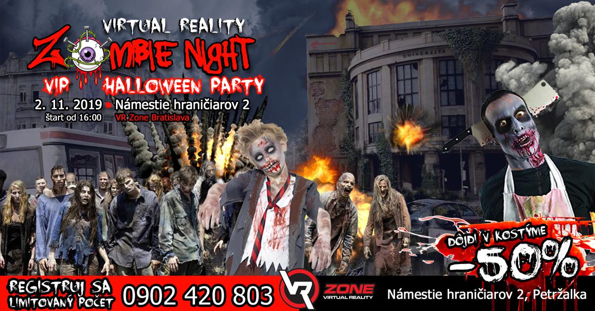 VIP HALLOWEEN PARTY s virtuálnou realitou vo VR ZONE